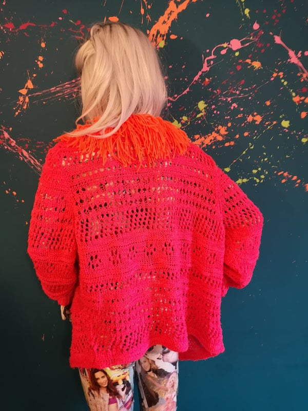 colour pop tassel cardigan