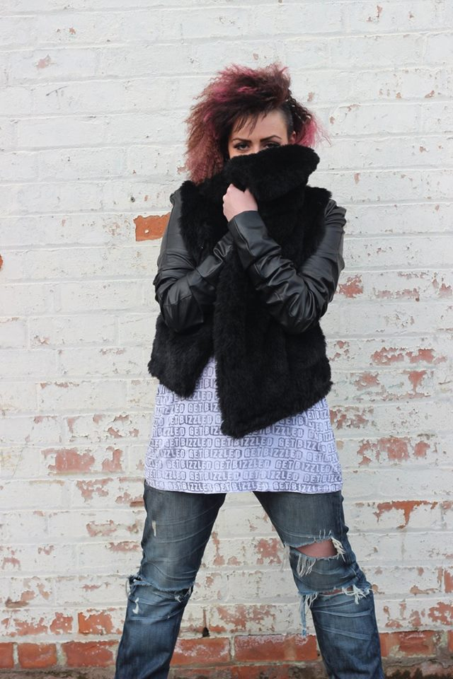 large collar fur jacket