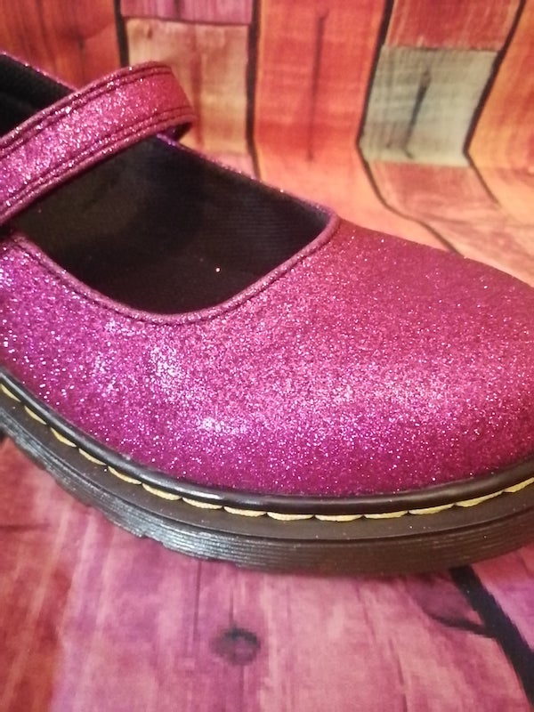 pink glitter dolly dr.martens
