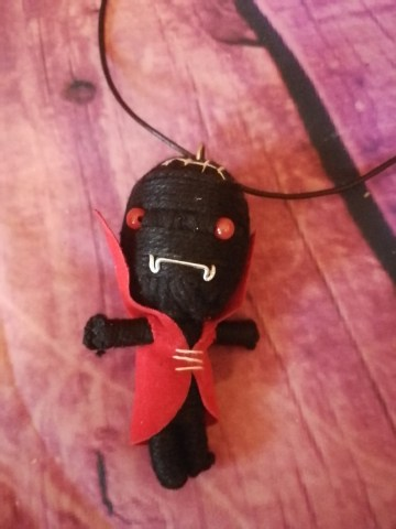devil voodoo doll necklace