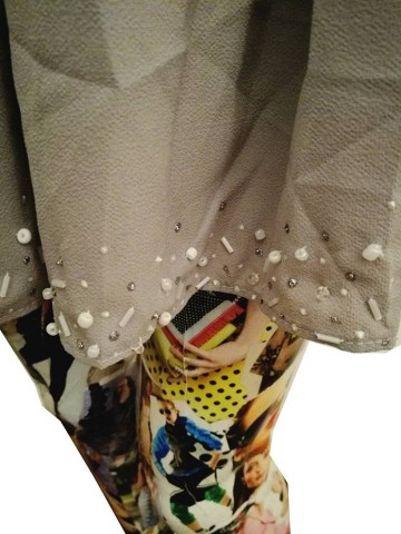grey baggy embelished beaded shorts1
