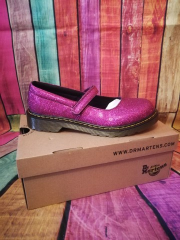 pink glitter doc martens dolly shoes