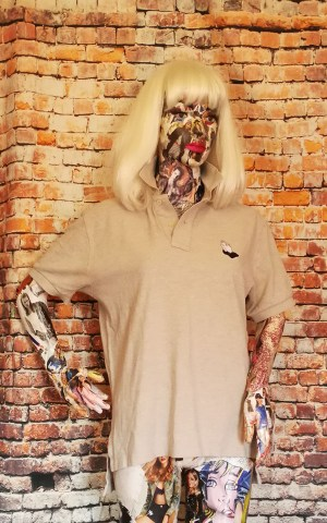 tshirt praying hands patch polo shirt 1